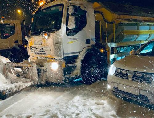 Снегопочистване по магистрала Струма